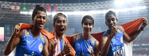 Asian Games: Gold for Women's 4x400 Relay, silver for men