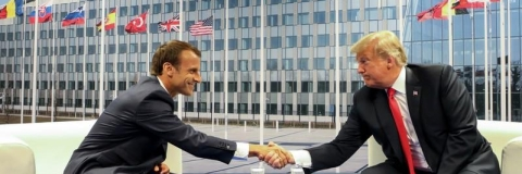 Trump, Macron discuss Iran and Middle East