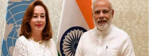 President-elect of UN General Assembly calls on Modi