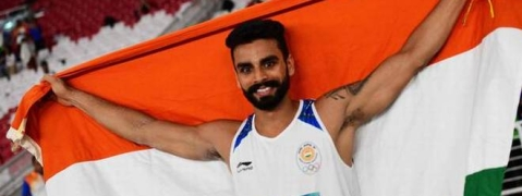Arpinder Singh wins gold in Men's Triple Jump