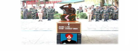 Army pays tributes to martyr L/N Singh