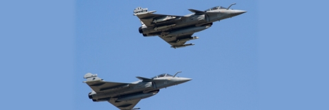 French Air Force showcases Rafale combat jets