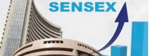 Sensex rises by 111.20 pts