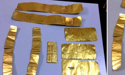 DRI Officials seize 1992 gms gold at Vizag Railway Station