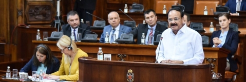 Vice President addresses special session of Serbian Parliament
