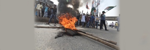 Bandh supporters indulge in arson and unruly activities in Bihar