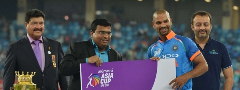Shikhar Dhawan wins Man of the Tournament for third time
