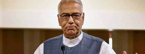 Yashwant Sinha urges opposition parties to 'hit the streets'