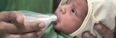Cup-feeding for low-birth-weight infants unable to fully breastfeed
