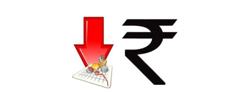 Rupee down by 45 paise against USD