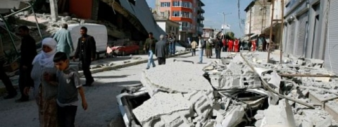 Hundreds trapped under rubble after quake