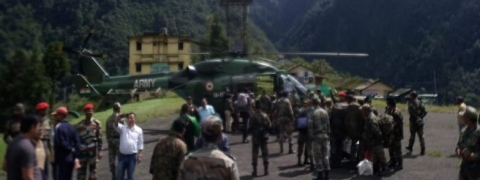 Rain and landslide: 100 stranded tourists airlifted in North Sikkim