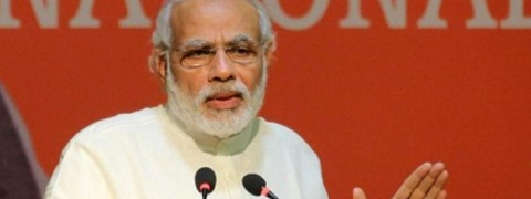 Modi coins new slogan 'Invincible India, Firm BJP'