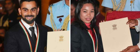 Virat Kohli, Mirabai Chanu conferred with Rajiv Gandhi Khel Ratna Award