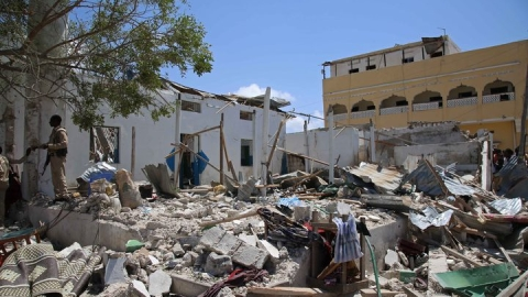 Somalia's capital Mogadishu hit by huge explosion