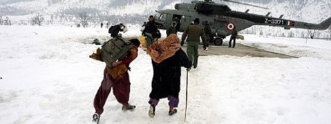 Foreign tourist couple airlifted from snow-bound area in Kargil