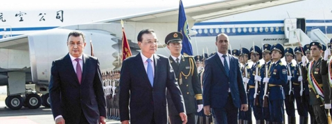 Chinese premier arrives for SCO meeting in Tajikistan