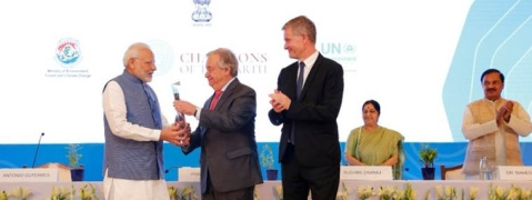 PM receives 'UNEP Champions of the Earth' award from UN Secy-Gen