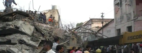 Delhi: Three injured after portion of under construction building collapses
