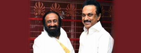 Art of Living founder Ravi Shankar meets DMK chief