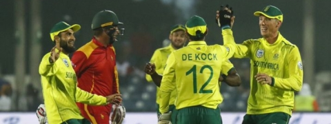 South Africa win by 34 runs against Zimbabwe