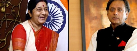 Sushma' speech disappoints Tharoor