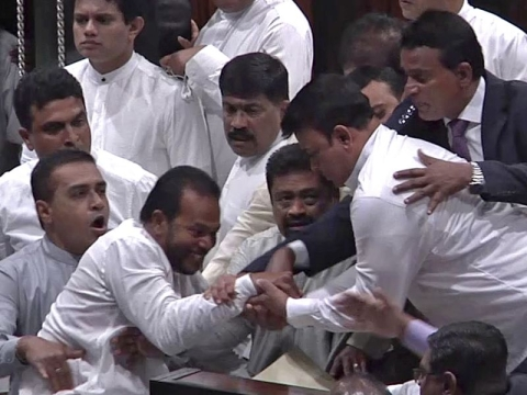 Lanka Parliament adjourned after scuffle