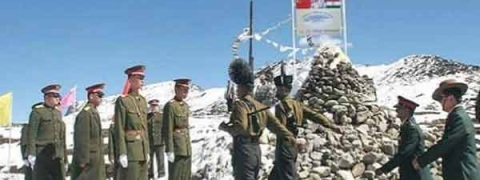 "Indian Army & China's PLA jointly celebrate ""Diwali"" at Nathu La"