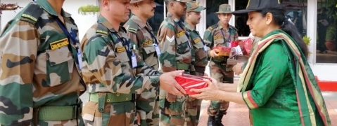 Nirmala Sitharaman celebrates Diwali with forces in Arunachal