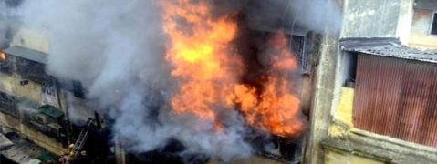 A fire broke out at a garment godown in Posta in Kolkata