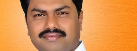 Face-saving victory for BY Raghavendra in  Shivamogga; Yeddy's son wins by 47, 388 votes