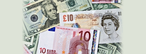 USD, Euro, Pound down; Yen up