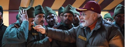 Diwali with soldiers: PM Modi arrives in Kedarnath