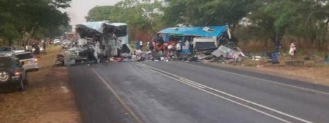 Bus collision kills 47 in Zimbabwe