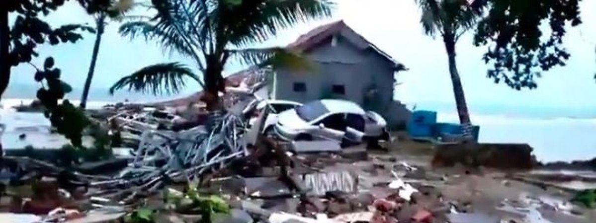 43 killed, 584 wounded as Tsunami hits Western Indonesia