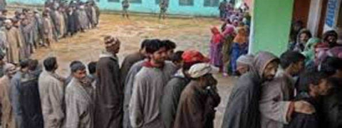 Voting for 6th phase of J&K panchayat polls begins