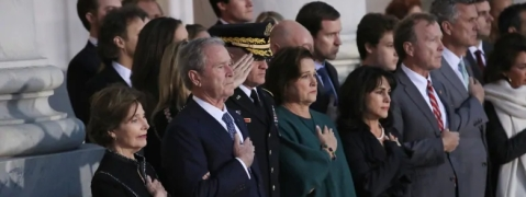 Former President George H.W. Bush's Casket Arrives at US Capitol