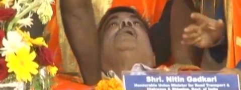 Union minister Nitin Gadkari faints on stage