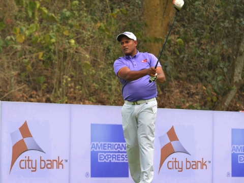 Thangaraja races into lead with a 66 in round three of CG open 2018