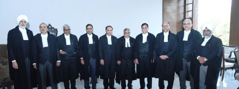 Chief Justice administers oath to 9 judges as permanent judges
