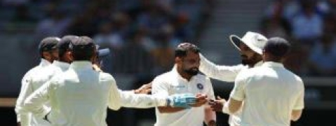 Australia set 287 runs target, Shami takes 6 wickets