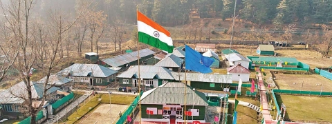 Tallest tricolour hoisted in Pahalgam