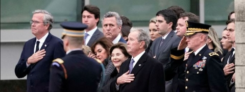 Former US president Bush laid to rest in Texas