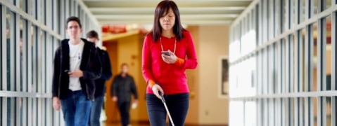 Blind woman developing tech for good of others