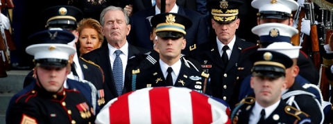 George HW Bush funeral: World figures pay respect
