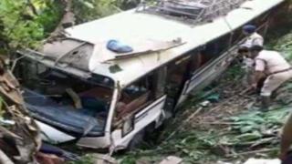At least 33 people injured as bus falls into gorge in Tripura