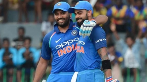 India get off to a better start; Kohli-Rohit partnership go well