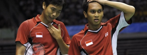Indonesian duo defeat Chinese world champs Li-Liu at Indonesian Masters 2019