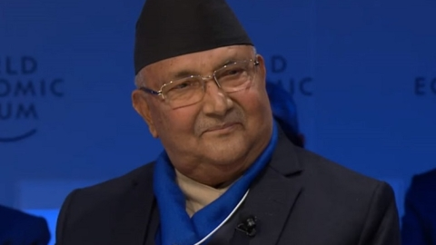 Davos: Nepali PM makes pitch to lure investment