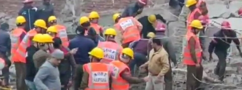 Five trapped under rubble after four-storey building collapses in Gurugram